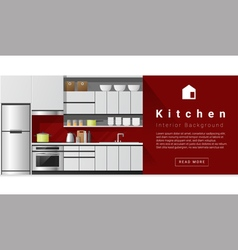 Interior design modern kitchen background 1 vector