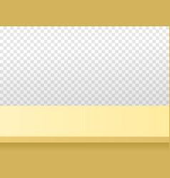 Light wooden or plastic beige tabletop vector