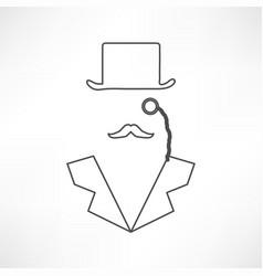 Man in suit secret service agent icon vector