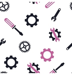 Mechanical tools seamless flat pattern vector