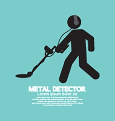 Metal detector black graphic symbol vector