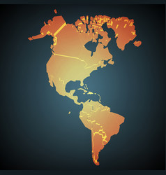 North and south america abstract map vector