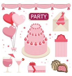 Pink party vector