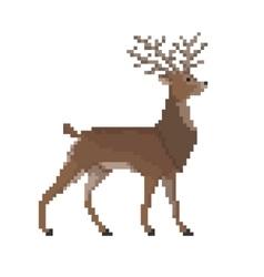 Pixel Reindeer vector image