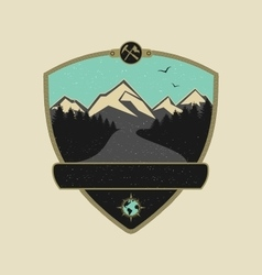 Retro Adventure Emblem vector image