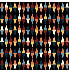Retro geometric seamless pattern with triangles vector image vector image