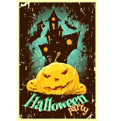 Retro Style Halloween Poster vector image vector image