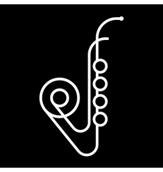 Saxophone Sign vector image vector image
