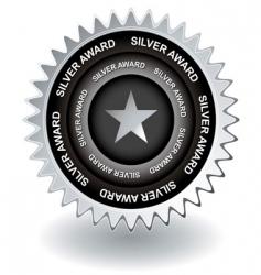 silver award icon vector image vector image