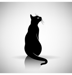 stylized silhouette of a cat vector image vector image