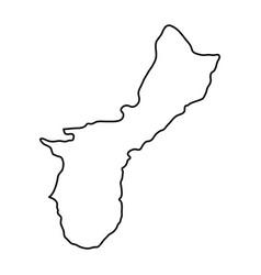 Territory of guam map of black contour curves vector