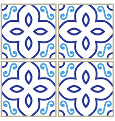 Tiles pattern spanish or portuguese tile design vector