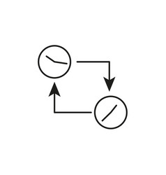 time sync icon vector image