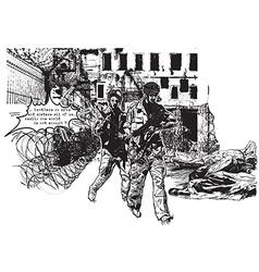 War district - an hand drawn freehand vector