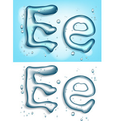 Water typeface vector