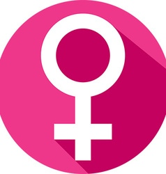 Female Gender Icon vector image