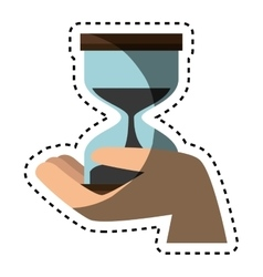 Time hourglass isolated icon vector