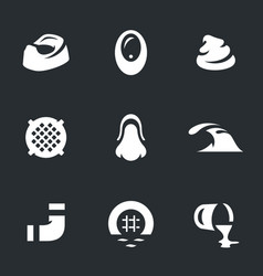set of sewerage icons vector image