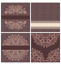 Collection of ornamental floral template vector