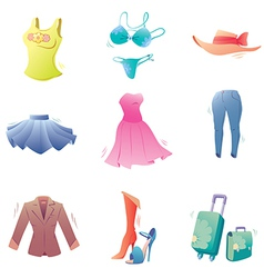 Fashion clothes set vector