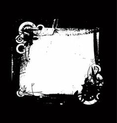grunge frame floral vector image
