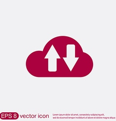 Cloud download icon download files vector
