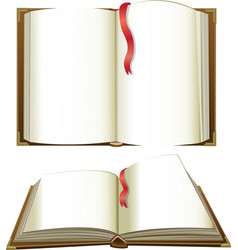 opened books with blank pages vector image