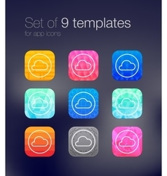 App icon backgrounds vector
