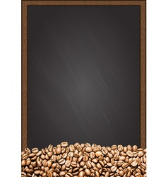 Coffee beans with chalkboard background vector