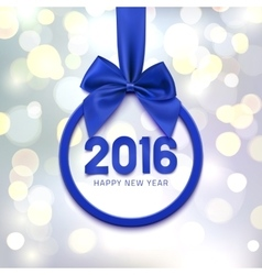 Happy new year 2016 round banner vector