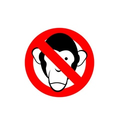 Stop monkey forbidden macaque frozen head primacy vector