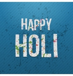 Happy holi paper words festival of color vector