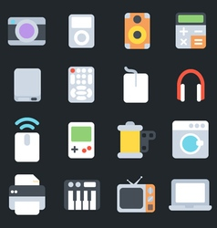 Multimedia flat icons vector