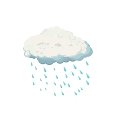 Cloud with rain drops icon cartoon style vector image