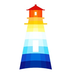 Modern lighthouse vector