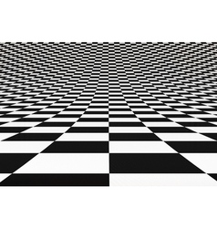 Abstract bent checkered 3D background vector image