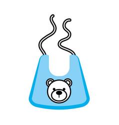 Baby boy shower bib accessory design icon vector