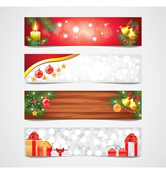 banners christmas vector image vector image