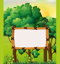 Border template with forest background vector
