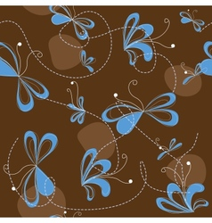 brown abstract seamless pattern vector image vector image