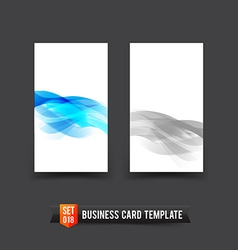 Business Card template set 18 light blue curve and vector image vector image