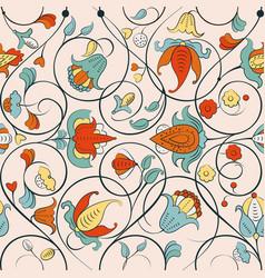 Fine byzantine floral ornament vector