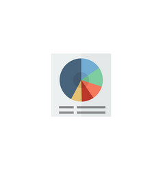 Flat circle chart element of vector