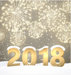 Gray 2018 new year background vector