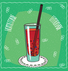 Homemade berry lemonade in handmade cartoon style vector