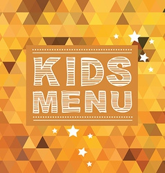 Kids menu template vector