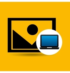 Laptop icon image social media vector