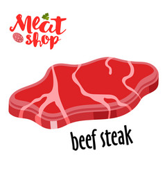 meat - beef steak fresh meat icon vector image vector image