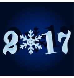 New 2017 Blue Christmas background vector image vector image