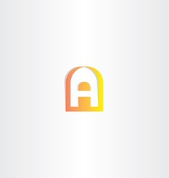 Orange yellow gradient logo letter a vector